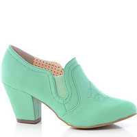 Bayou Belle Booties in Sea Green