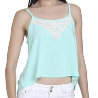 Crochet Trim Challis Tank | Shop Tops at Wet Seal
