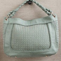 Danica Woven Bag In Seafoam at ShopRuche.com