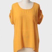 Golden Dreams High-low Curvy Plus Blouse at ShopRuche.com