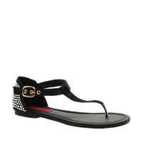 London Rebel Satin Flat Sandal