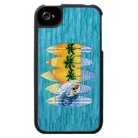 Surfer And Surfboards iPhone 4 Case from Zazzle.com