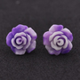 Frosted Retro Rose Earrings -- Mexicali Blues