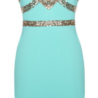 Mint Diamond Dress | Sequin Party Dresses | Rickety Rack