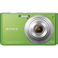 Sony - Cyber-shot DSC-W610 14.1-Megapixel Digital Camera - Green