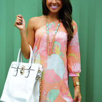 Better Than Before Dress: Peach/Multi | Hope's
