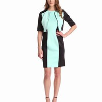 Amazon.com: London Times Women&#x27;s Color-Block Jacket Dress: Clothing