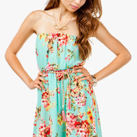 Floral Minty Hi Lo Dress