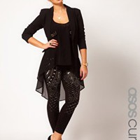 ASOS CURVE Leggings With Embellishment at asos.com