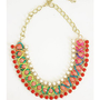 Rocking Glam Necklace- Coral