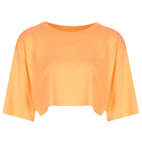 Elbow Sleeve Crop Tee - Jersey Tops - Clothing - Topshop USA