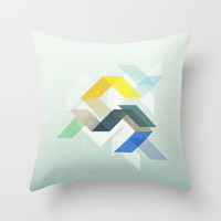 Steady Throw Pillow by gabi press