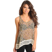 Electric Leopard Crochet top