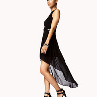 Sleeveless High-Low Dress w/ Belt | FOREVER 21 - 2052287825