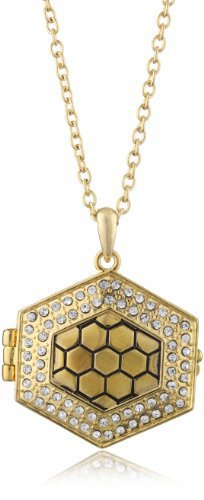 Belle Noel 14k Yellow Gold-Plated Honey Hexagon Locket
