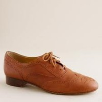 Women's shoes - oxfords & mocs - Camden leather brogues - J.Crew