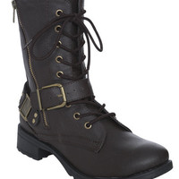 Harness Side Zip Combat Boot | Shop Shoes at Wet Seal