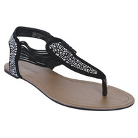 Bling Elastic Strap Sandal | Shop Shoes at Wet Seal