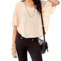 Embellished Poncho Top