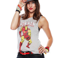 Papaya Clothing Online :: IRON MAN PRINT MUSCLE TEE