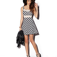 Fit & Flare Checkerboard Dress | FOREVER 21 - 2000050973