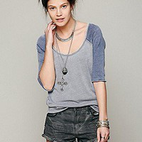 Free People  We The Free Long Sleeve Cotton Candy Burnout Top at Free People Clothing Boutique