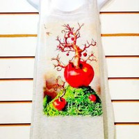 Apple Tree Women Tank Top Tunic Tshirt Dress
