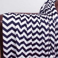 Chevron Microplush Throw