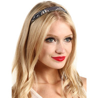Jane Tran Beaded Aztec Print Mix Headband