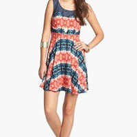 As U Wish Print Skater Dress (Juniors) | Nordstrom