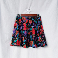 Vintage Upcycled high waisted mini skirt pleated by GloriousMorn