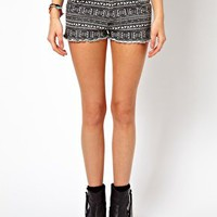 Brave Soul Shorts In Aztec Print at asos.com