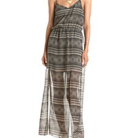 Tie-Back Aztec Maxi Dress: Charlotte Russe