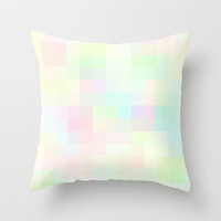 Re-Created Colored Squares No. 35 Throw Pillow by Robert Lee