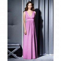 Elegant Deep V neck Floor Length Bridesmaid Dress 2788 - Wedding Party Dresses - Apparel