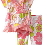Bonne Baby-girls Infant Short Sleeve 2 Piece Ruffle Trim Kimono Set:Amazon:Clothing