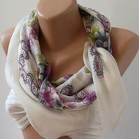 Elegant Scarf / Shawl  Very speacial soft cotton fabric.