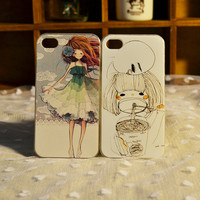 Elegant girl Cute Girl iPhone 4 Case