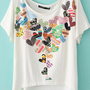 Peach Heart Two-sided Print Loose Short T-shirts