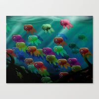 Swim On By Stretched Canvas by Ben Geiger
