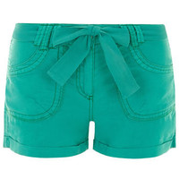 Emerald linen casual short