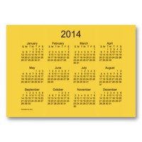 2014 Pocket Calendar Business Card Template from Zazzle.com