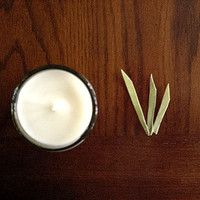 Grass Soy Candle by aromacandles - fresh cut grass, summer, outdoors, highly fragrant