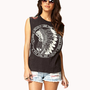 Beaded Fringe Muscle Tee