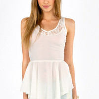 Imagine Lace Trim Tank $26