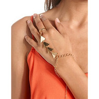Linked Triangle Hand Chain: Charlotte Russe