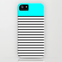 Colour & Stripes: #00ffff iPhone & iPod Case by Another Case