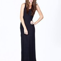 Black Tank Maxi Dress with Side Slit