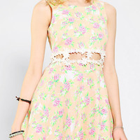 Urban Outfitters - Reverse Open-Waist Floral Skater Dress