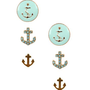 Anchor Earring Set